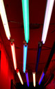 Funky coloured Strip lights Stock Photos