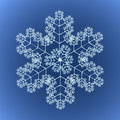 Funky Detailed Snowflake Stock Photography
