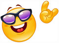 Funky emoticon Stock Images