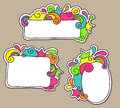 Funky frames colorful doodle with space for your message Stock Photo