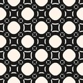 Funky geometric seamless pattern with circles and squares Royalty Free Stock Photo