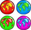 Funky Globes Royalty Free Stock Photo