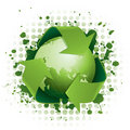 Funky green recycling concept Royalty Free Stock Images