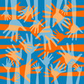 Funky hand pattern design. Royalty Free Stock Images