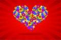 Funky Heart Royalty Free Stock Photo