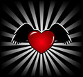 Funky heart banner Royalty Free Stock Photo