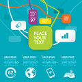 Funky infographic design elements for works Royalty Free Stock Images