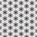 Funky Leaf Leaves Floral Flower Petals Trendy Black Line Design Repeating Seamless Vector Pattern Background Design Geometric Star Royalty Free Stock Photo