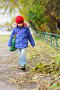 Funky little child girl in autumn atmosphere Royalty Free Stock Photo