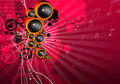 Funky musical background Royalty Free Stock Image