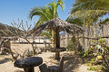 Funky pacific ocean beach hideaway mexican in cabo corrientes west of puerto vallarta Stock Photography