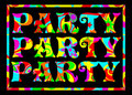 Funky party banner Royalty Free Stock Photo