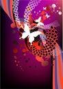 Funky Red And Purple Retro Gra...