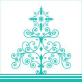 Funky retro coil christmas tree Royalty Free Stock Photo