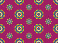 Funky Retro Floral Pattern Royalty Free Stock Images