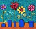 Funky Retro Flowers