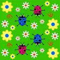 Funky retro ladybugs Stock Photos