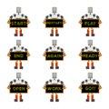 Funky robots Royalty Free Stock Photo