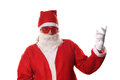 Funky santa funny claus with wierd glasses Stock Image