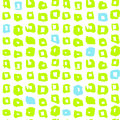 Funky Square Seamless Pattern Royalty Free Stock Photo