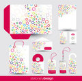 Funky stationery set design Stock Photography