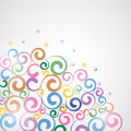 Funky swirls illustration for your design Stock Images