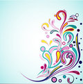 Funky swirls vector illustration for your design Stock Photo