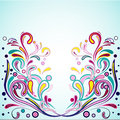 Funky swirls vector illustration for your design Royalty Free Stock Photo