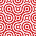 Funky Wild Circle Seamless Pattern Pink White Red Stock Image