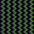 Funky zig zag pattern seamless s neon glow background Royalty Free Stock Image