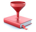 Funnel in the book red d illustration Royalty Free Stock Photos
