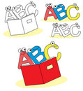 Funny abc cartoon letters Stock Photo