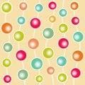 Funny abstract ball seamless pattern vector illustration Royalty Free Stock Photos