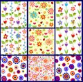 Funny abstract floral wallpapers collection of Royalty Free Stock Photos