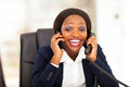 Funny african businesswoman Stock Photo
