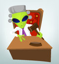 Funny Alien Royalty Free Stock Photo
