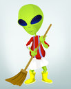 Funny Alien Cartoon Illustration