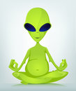Funny Alien Cartoon Illustration Royalty Free Stock Photo