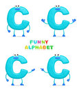Funny alphabet Stock Photography