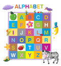 Funny alphabet colorful capitall letters Stock Image