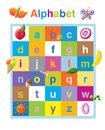 Funny alphabet lower case letters Stock Photo