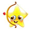 Funny amur star with bow and arrow