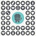 Funny Animal icons set.