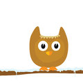 Funny animal on the snow branch vector part two