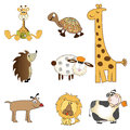 Funny animals items set in vector format Royalty Free Stock Photos