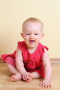 Funny baby girl (7 month) Stock Images