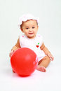 Funny baby girl cute looks so happy Royalty Free Stock Images