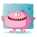 Funny bacteria / funny monster / funny computer vi Royalty Free Stock Photo