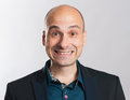 Funny bald dude expressive portrait Royalty Free Stock Photo