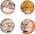 Funny Basketballs Royalty Free Stock Images